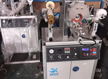 China Semi - Automatic Hot Foil Stamp Printer Machine For Irregular Shape Plastic Cap supplier
