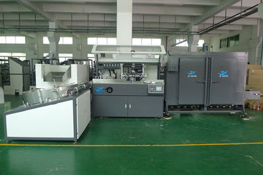 China PET / PP / PE Plastic  Container Automatic Silke Screen Printing Machine 4000pcs / hr With IR Dryer supplier