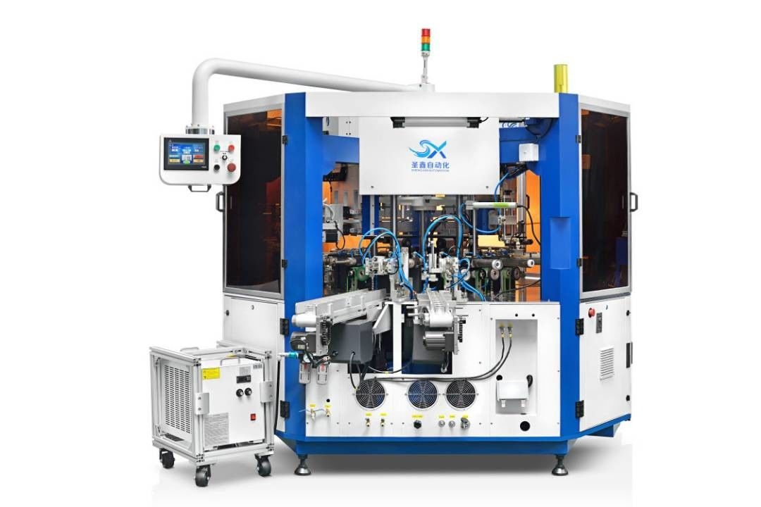 Fully Automatic Cosmetic Container Cylindrical Screen Printing Machine With LED UV Curing Device