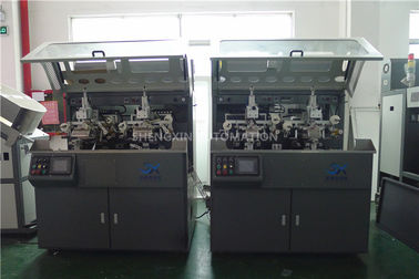 China Make Up Hot Foil Automatic Stamp Machine Two Color Screen Printer factory