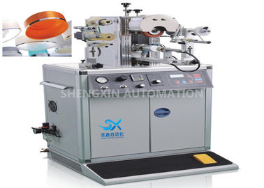 China Irregular Caps Semi - Automatic Hot Foil Plastic Stamping Machine 0.6MPa Compressed Air factory