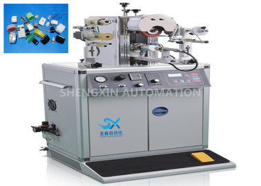 China Oval Shape Caps Hot Foiling Machine , Semi - Auto Heat Stamping Machine factory