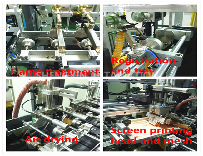 Round Surface Screen Print Machine 4000Pcs / Hr With Visual Detection